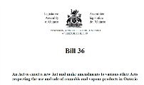 Bill 36 - Cannabis Statute Law Amendment Act - Ontario