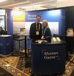 Image: Christina Kobi and Boris Zayachkowski at the Minden Gross booth at ICSC Whistler 2020