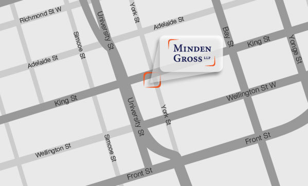 Minden Gross Map: 145 King Street West Suite 2200, Toronto